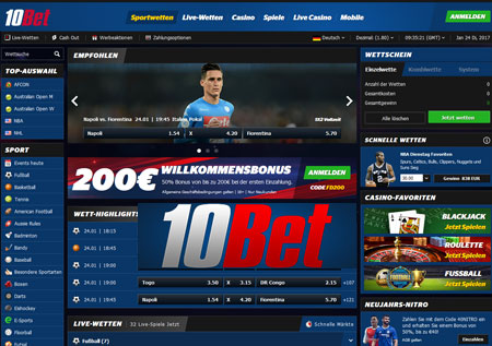 10Bet Screenshot